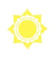 Mechanical logo yellow sun vector image