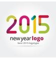 2015 logotype isolated on white background vector image vector image