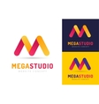 Abstract M letter logo icon template vector image