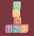 alphabet blocks batoy vector image vector image