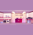 appliances store interior electronics department vector image