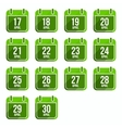 April flat calendar icons Days Of Year Set 14