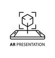 ar presentation concept icon vector image vector image