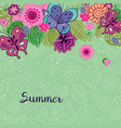background with natural elements vector image