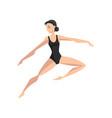 ballet dancer beautifull slim ballerina dancing vector image vector image