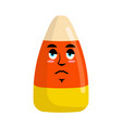 candy corns sad emoji sweet emotion sorrowful vector image vector image