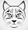 Cat Face Tribal vector image vector image