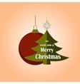 Christmas and New year logo emblem vector image vector image