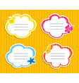 Collection of cute frames vector image vector image