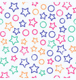 colored star seamless pattern with grunge effect vector image