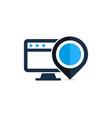 computer point logo icon design vector image vector image