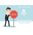 Concept page 404 Design error vector image