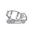 concrete truck line icon concept concrete truck vector image vector image
