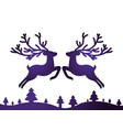 deer card decoration vector image vector image