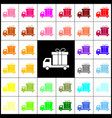 delivery gift sign felt-pen 33 colorful vector image vector image