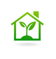 Eco house concept green vector image