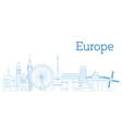 Europe skyline vector image vector image