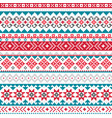 fair isle shtelands knitwear pattern vector image vector image
