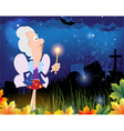 Fairy godmother in the cemetery vector image vector image