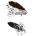 Feather with text vector image