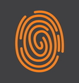 fingerprint icon1 vector image vector image