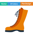 Flat design icon of hiking boot vector image vector image