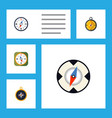 flat icon direction set of navigation divider vector image vector image