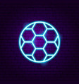 football soccer neon sign vector image vector image
