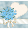 Forget-me-nots with a satiny ribbon vector image vector image