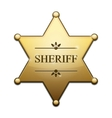 Golden sheriff star vector | Price: 1 Credit (USD $1)