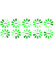green progress upload download symbol vector image