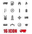 grey natural gas icon set vector image vector image