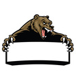 grizzly bear hold the blank sign vector image vector image