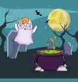 halloween ghost cartoons vector image
