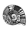 Hand Drawn seashell vector image vector image