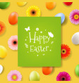 happy easter day banner vector image vector image