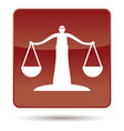icon of justice scales vector image