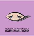 international day for elimination violence vector image vector image