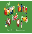 Isometric Fast Food Restaurant Interior vector image vector image