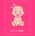 its a girl poster dedicated to bashower day vector image vector image