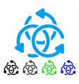 knot rotation flat icon vector image vector image