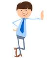 man or businessman cartoon character vector image vector image