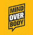 Mind over body sport and fitness creative