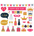 new year 2021 photo booth signs set vector image vector image