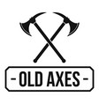 old axe logo simple black style vector image vector image