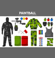 paintball game sport equipment team players vector image vector image