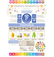 phosphorus mineral supplement rich food icons vector image vector image