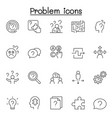 problem question icons set in thin line style vector image
