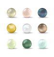 realistic detailed 3d realistic pearl set vector image