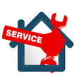 repairs in the house symbol vector image vector image